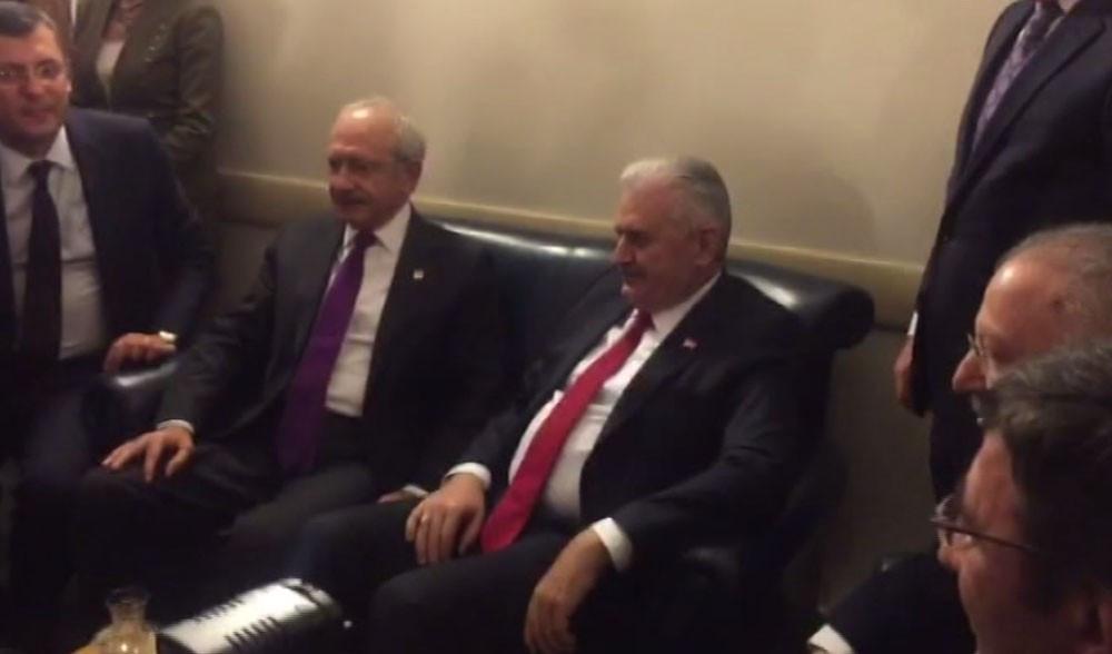 Başbakan Yıldırım, Mecliste Kılıçdaroğlu ile görüştü