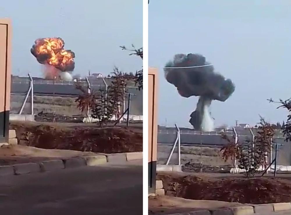 Resulayn'da Türk tankı teröristlerin mevzi kazan iş makinesini vurdu