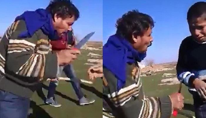 Camını kıran çocuğu sopa ve bıçakla tehdit etti