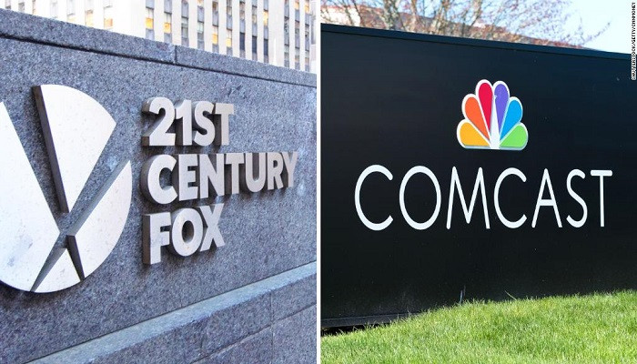 Comcast Fox'un bir bölümünü almak için teklif götürecek