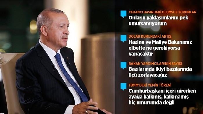 Erdoğan: Önümüzdeki süreçte faiz de dolar da düşecek