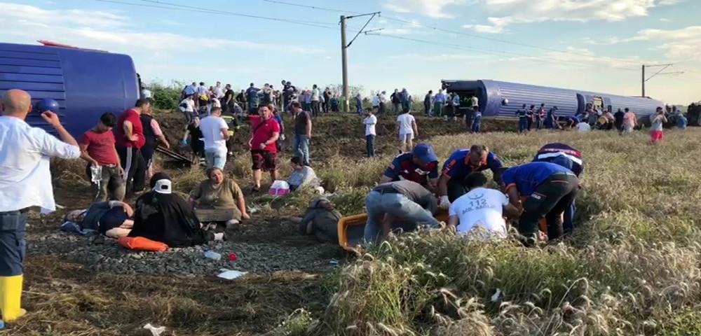 Tekirdağ'da tren raydan çıktı: 10 ölü, 73 yaralı
