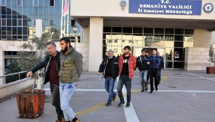 Osmaniye'de 9 Suriyeli terör örgütü üyeliğinden gözaltına alındı