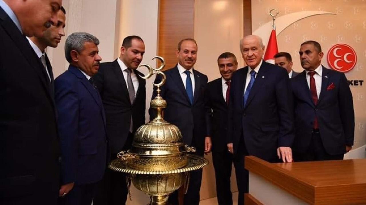 MHP Lideri Devlet Bahçeli'ye Paşa Mangalı hediyesi