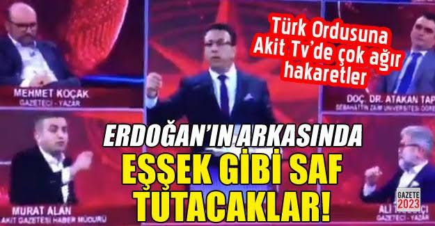 Generallere hakaret eden Akit TV'ye MSB'den sert tepki