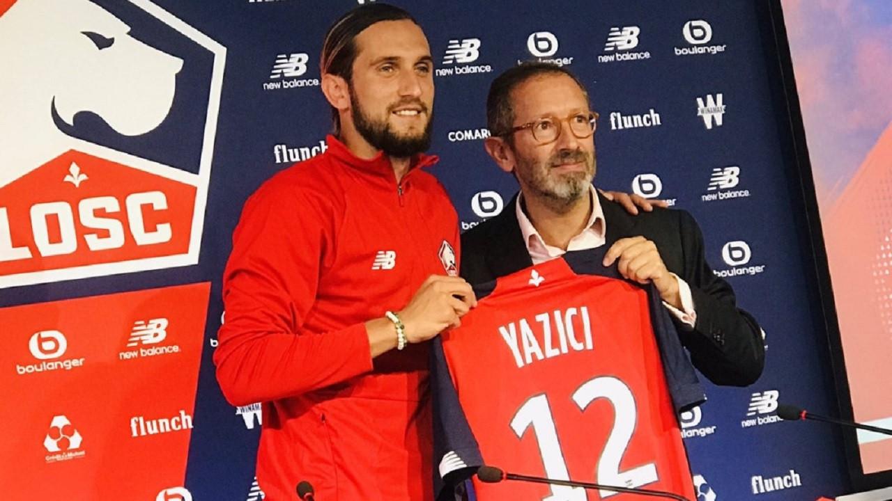 Lille'nin yeni transferi Yusuf Yazıcı Fransız basına tanıtıldı