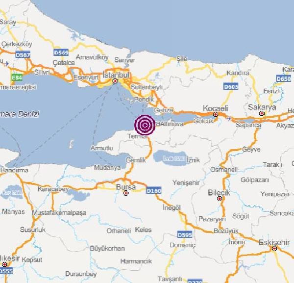 Son dakika! Yalova açıklarında 3.6'lık deprem: Son depremler
