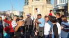 Taksim Meydanı'nda 2,05 metrelik Ukraynalı basketbolcuya yoğun ilgi