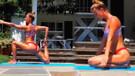 Nina Agdal'ın yoga videosu olay oldu