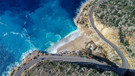 Dünyaca ünlü Kaputaş Plajı kış manzarasıyla görenleri hayran bırakıyor