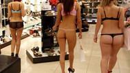 Çıplak alışveriş çılgınlığı izdiham yarattı!