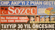 Sözcü'den şok manşet! CHP, AK Parti'yi 2 puan geçti!