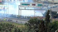 Polis taraftarlara biber gazıyla müdahale etti!