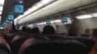 Uçaktaki dehşet anları yolcunun kamerasında!