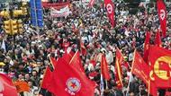 İşçiler Taksim Meydanını doldurdu! İşte muhteşem tablo!