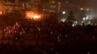 Taksim'de çatışma!  Polis Gezi Parkı'ndaki çadırları yaktı!