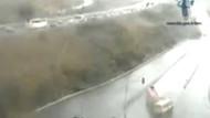 13 kişinin öldüğü minibüs kazası kamerada! İşte o an!