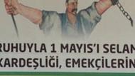 Polisler, pankarttaki işçiyi Öcalan'a benzetti!