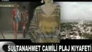 Sultan Ahmet Camii'li pareoya sert tepki!