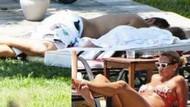 Yağmur Atacan ve kızları uykuda, Pınar Altuğ güneş banyosunda!