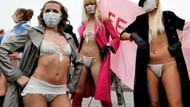 ''Ukrayna seks değil, futbol ülkesi!'' İlginç protesto!