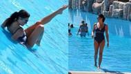 Tuğba Ekinci'nin havuz halleri! Kimse anlamadı!