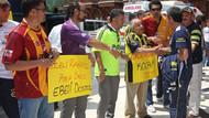 Galatasaray taraftarından Fenerbahçe'ye destek!