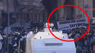 Taksim'de ilginç pankart! Babalar Günün kutlu olsun Tayyipcim...