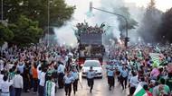 Bursaspor'dan muhteşem şampiyonluk kutlaması!