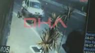 İnanılmaz kaza kamerada! Araba böyle daldı...