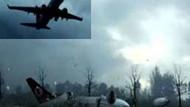 İşte Amsterdam'da düşen THY uçağının çakılma anı!