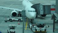 Fırtına bekleyen uçağı böyle döndürdü!