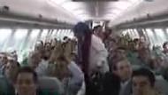 Trabzonspor kupa sevincini Barcelona uçağında kutladı!