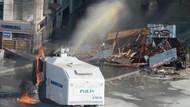 Taksim'de göstericiler TOMA'yı böyle yaktı!