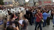 Taksim meydanında polis müdahalesi!