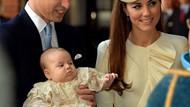 Küçük Prens George vaftiz edildi!