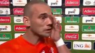 Sneijder canlı yayında hüngür hüngür ağladı!