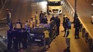 Kamyona çarpıp metrobüs yoluna girdi! 1 ölü