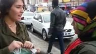AK Parti broşürü dağıtan kadınlara kadın tepkisi