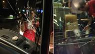 Galatasaray takım otobüsünü taşladılar!