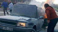 TEM'de dehşet: 2 kişi yanarak öldü!