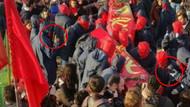 Terörist cenazesinde eli silahlı göstericiler