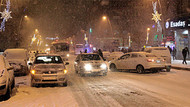 Erzurum ve Bayburt'ta yoğun kar yağışı