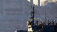 Boğaz'dan geçen Rus gemisinde füze taşıyan asker