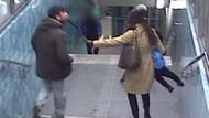 Metroda genç kadına tekme tokat böyle saldırdı