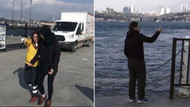 İstanbul'da selfie çeken turist denize düştü