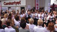 Cumhuriyet Gazetesi'ne destek nöbeti
