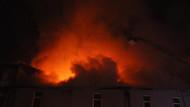 İnegöl Mobilya Sanayii'nde korkutan yangın