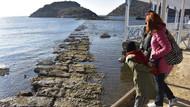 Muğla'da deniz çekildi, ortaya çıkan görüntü inanılmaz