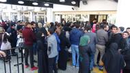 Mersin'de Suriyelilerin 100 TL izdihamı barikatlarla engellendi
